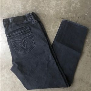 Rock Revival Black Denim Skinny Ankle Jeans